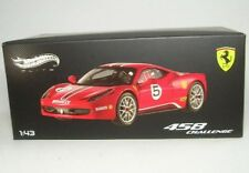 X5504 Hot Wheels elite Ferrari 458 reto No5 fundido modelismo coche rojo 1 43