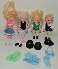 Lot d'anciennes petites poupées BARBIE Shelly MATTEL cavaliere Vintage 1994