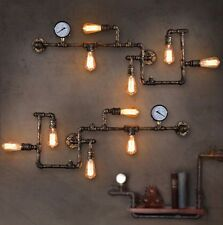 NEW Industrial Steampunk Wall Lamp Retro Wall Light Rustic Vintage Pipe Light
