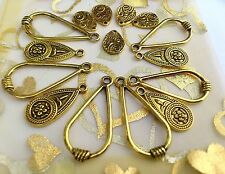 15x large Mix Aztec Teardrop Pendant Charms for earring! *  Gold *