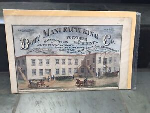 Antique Doty ManUfacturing Large Lithograph Blacksmith Foundry  WI/1890/