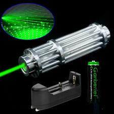 Tactical 532nm Green Laser Pointer Pen Zoom Visible Beam Light 18650 Charger Usa