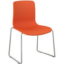Dal Acti Chrome Sled Base Chair Orange