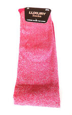 Womens Over The Knee Socks Ladies Girls Glitter Thigh Long Party Tights Hold Ups