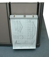 AdirOffice Cubicle Rack For Blueprints Hanging Clamps, Plans, Posters 618