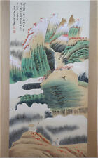 Excellent Chinese 100% Hand Painting & Scroll Landscape By Zhang Daqian 张大千 P407