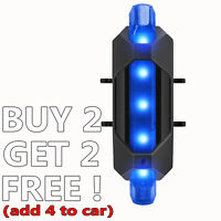 4 Modes Blue Bike Light Super Bright Tail LED USB Rechargeable Rear Cycling MTB