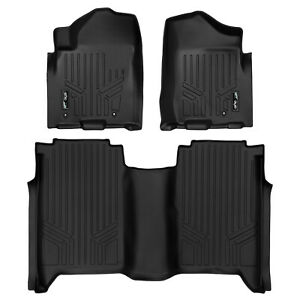 SmartLiner All Weather Floor Mats for Nissan Titan Crew Cab 2008-2015 Black