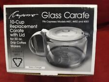 New Replacement Glass Coffee Carafe Capresso 10 Cup 50oz Models #451 452 351