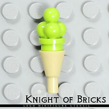 Lego Minifigure Food LIME Ice Cream Scoop w/Tan Cone Girl Friends Dessert
