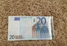 20 Euro Banknote Good Condition Real Currency 2002