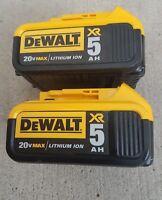 "DeWalt  20V max Lithium Ion Battery Pack DCB205  5 amp ""2018 Dated Code"""