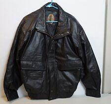 Leather Members Only Jacket Coat Bomber Medium Vintage