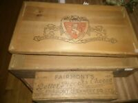 Antique Wood Box Cheese Vintage Rum Bottle Spice Case Wooden Crate