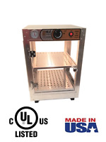 HeatMax 14x14x20 Commercial Food Warmer Display, Patty, Pizza Empanada Pastry