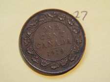 1919 Canada, Canadian Large Cent Coin , Canadian One Cent