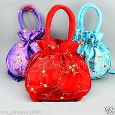 3pcs Chinese Handmade Silk Satin Embroidery Women's Handbag Purse Evening Bags