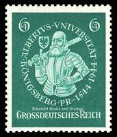EBS Germany 1944 400th Anniversary Albert University Michel 896 MNH**