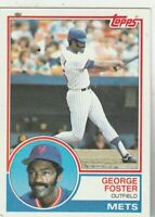 FREE SHIPPING-NRMINT TO VG-1983 Topps #80 George Foster Mets PLUS BONUS CARDS