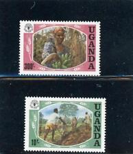 Uganda 1984 Scott# 393-4 mint Hinged