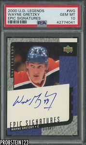 2000 Upper Deck Legends Epic Signatures Wayne Gretzky HOF AUTO PSA 10