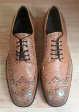 Lathbridge by Patrick Cox - Tan Leather Brogues -UK 9 - Made in Italy - Freepost