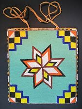 "Fine Native American Beaded Flatbag by Etta Adams ""Big Mom"" Spokane Tribe 50's"