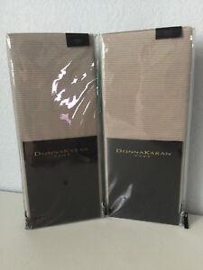 2 Donna Karan Modern Classics Collection Platinum Ash King Pillow Shams DKNY