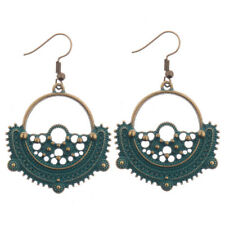 Alloy Earrings For Lady Dw-Eh-Hqe517 Bohemia Geometric Round Bronze Cool Elegant