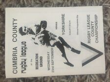 Cumbria v Yorkshire rugby league Programme 1981