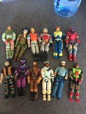 Large  Vintage G.I. Joe Figure Lot 12 Figures Cobra ARAH  Gi Shipwreck  Hasbro