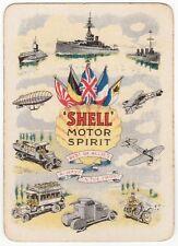 Playing Cards 1 Swap Card Old Wide SHELL MOTOR SPIRIT WW1 Tank Zeppelin Warship