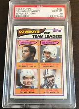 1982 Topps Team Leaders Dallas Cowboys Psa 10