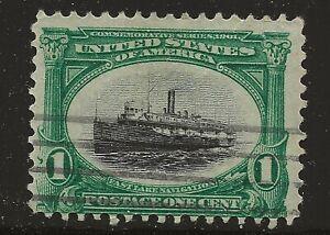 US Scott #294, Single 1901 Pan-American 1c FVF Used