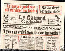 CANARD ENCHAINÉ Birthday Newspaper JOURNAL NAISSANCE 7 AOUT AUGUST 2013
