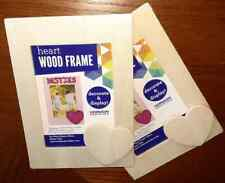 """New listing New Decorate & Display Heart Wood Photo Frame Set of 2 ~ Holds 3.25""""x4.5"""" Photos"""