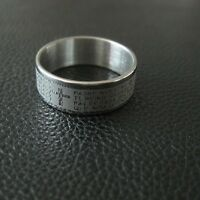 Stainless Steel Ring Christ Cross Bible Scriptures Lord's Prayer Ring Band UK