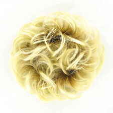 Hair Extension Scrunchie clear golden blond ref: 17 ys peruk
