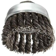"""Weiler 36038 Extra Coarse Grade Knot Wire Cup Brush, 3"""" X 5/8-11, 0.02"""" Wire"""
