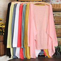 1PC Fashion Summer Women Long Thin Cardigan Modal Sun Protection Clothing Tops