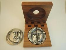 Finland 1976 Gustaf Mannerheim- Kauko Räsänen Art Medal 4 faces 50mm 350g Silver