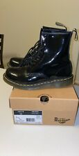 Dr. Martens 1460 Women's Black Smooth Leather 8 Eyelet Boots Size 8