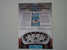 advertising Pubblicità 1972 OROLOGIO LONGINES ULTRA-QUARTZ