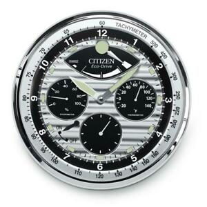 Citizen CC2013 Gallery Wall Clock, Silver-Tone
