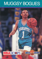 Tyrone Muggsy Bogues 1990-91 NBA Hoops Collect-A-Books Hornets Basketball Card