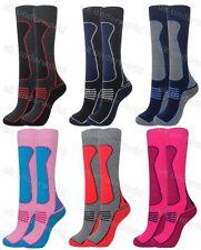 Childrens Boys Girls 2.0 Tog Thermal Long Ski Socks Hiking Walking Full Cushion