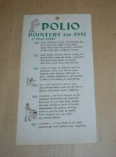 Polio Pointers for 1951 Pamphlet