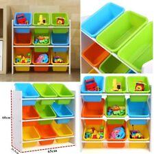 Kids Children Toys Storage Rack Bookshelf Playroom Plastic Boxes Toys Organizer