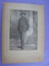 ORIGINAL SPANISH-AMERICAN WAR SOLDIER...CABINET CARD...NICE..SAN FRANCISCO..