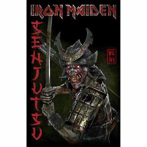 Iron Maiden Senjutsu Album Poster Flag Textile Fabric Wall Banner Official